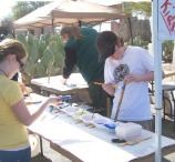 Childrens flute painting activity booth during the 2009 American Indian Music Fest.