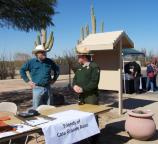 The Friends of Casa Grande Ruins table during the 2009 American Indian Music Fest.