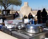 The Coolidge High School Native American Club serving food at the 2009 American Indian Music Fest.