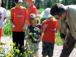 At BioBlast kids learn about the plant life at Cedar Breaks