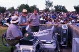 NPS staff makes sure that all the technical machinery is ready for the outdoor concert.