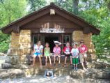 A row of proud Junior Rangers at the Junior Ranger Station; June 2009.