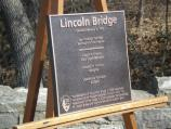 The new dedication plaque to be mounted on the Lincoln Bridge - this replicates the original text and includes a short statement rededicating the bridge.