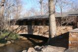 The Frank Lloyd Wright inspired Travertine Nature Center was constructed over the top of Travertine Creek.