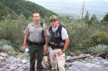 Ranger and Border Patrol agent on patrol.