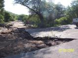 Damage to the asphalt and erosion of the road bed on Montezuma Canyon Rd.