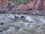 Running Warm Springs Rapid on the Yampa River