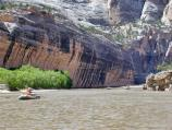 Approaching Tiger Wall on the Yampa River