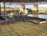 Pouring new concrete floor, July 2010