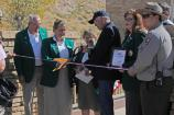 Ribbon cutting by Secretary of the Interior Ken Salazar