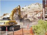 Demolishing the rotunda, July 2010