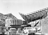 Rotunda & framework of the quarry building, Dec. 1957
