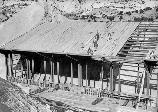 Roofing the quarry building, late 1957 or early 1958