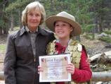 Chandler Johnson received her first Junior Ranger badge here at Florissant Fossil Beds National Monument, and Sally was the volunteer that inspired Chandler to learn about all the National Parks. Chandler has over 250 badges from other National Parks around the country.