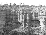 1914 view of Gila Cliff Dwellings