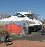 Decontamination of mussel-infested boat which had come to Lake Powell from Lake Pleasant.