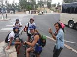Participants enjoying biking along the South Rim of Grand Canyon during our Unearthed Program.