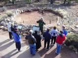 Ranger Talk at the Tusayan Ruin and Museum. Park visitors learn about the early people who made Grand Canyon their home 800 years ago.