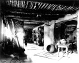 MAIN RETAIL DISPLAY ROOMS IN THE HOPI HOUSE, LIGHT COMING THROUGH WINDOW (LEFT) GRCA 25732
