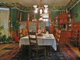 The formal family dining room was used often when the Kohrs family entertained.