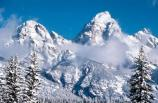 Grand Teton winter fresh snow