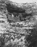 An undated image of Montezuma Castle from the early 1900's.