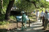 Exhibits at Alcove Spring, help historic trail visitors to learn about one of the most popular camping areas used by Oregon Trail emigrants in the 1840s - 1850s.