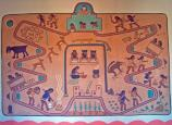 Kabotie Salt Lake Mural, Painted Desert Inn National Historic Landmark, Petrified Forest National Park
