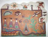 Kabotie Hopi Symbols Mural, Painted Desert Inn National Historic Landmark, Petrified Forest National Park