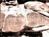 Petrified Forest National Park History-Spanish Inscription