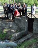 Sen. Kay B. Hutchison at San Juan acequia re-watering ceremony