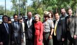 Dignitaries at Re-watering of San Juan Acequia