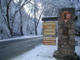 Entering the Monument in winter