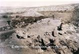 This shot of the excavation of the 'Tuzigoot Extension' shows the Verde River and the Tuzigoot ruins in the distance.