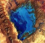 Satellite image of the dunefield