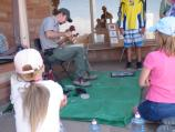 Archaeologists Demonstrate Flintknapping