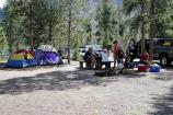 Tents and visitors at the Madison Campground