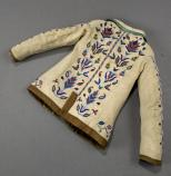 AGFO 345- back of Child's shirt, floral (Meti style) beadwork