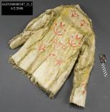 AGFO 347-back of Man's buffalo hide ceremonial shirt