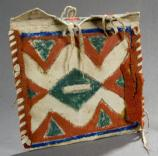 AGFO 352-rawhide storage pouch, beautifully painted