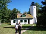 Volunteer lighthouse keepers help to staff several lighthouses at Apostle Islands National Lakeshore during the summer. They help maintain the grounds and offer tours to visitors at places like the Michigan Island Light.