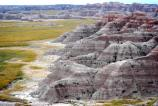 Badlands scenery at Norbeck Pass.