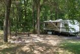 campsite with trailer
