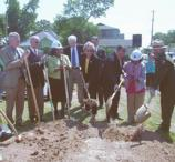 Participants break ground for new visitor center at CHSC.