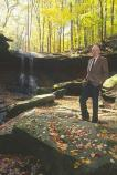 Congressman Seiberling Below Blue Hen Falls in CVNP