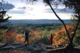 Ledges overlook in the fall