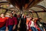 Passengers on the Cuyahoga Valley Scenic Railroad (CVSR) enjoy the ride in the Emerson Dome Car.