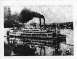 Steamboat Named the Independence on the Missouri River