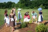 Ranger Keri Powers explains the different types of herbs that were grown in the 1860's.