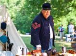 Carver Day 2011: Galen Ewing, Fort Scott National Historic Site with a Civil War display.